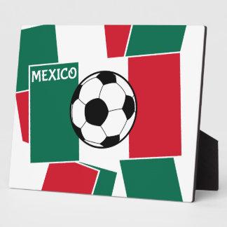 メキシコのフットボールの旗 フォトプラーク