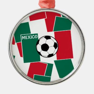 メキシコのフットボールの旗 メタルオーナメント