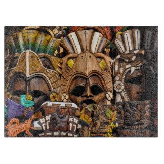 メキシコのマヤの木のマスク カッティングボード