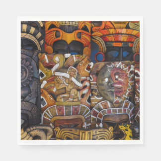 メキシコのマヤの木のマスク スタンダードランチョンナプキン