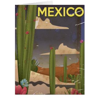 メキシコのヴィンテージ旅行ポスター ビッググリーティーングカード