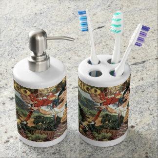 メキシコのヴィンテージ旅行浴室セット バスセット