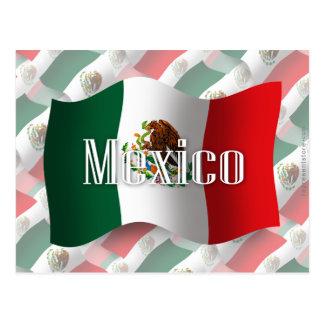 メキシコの振る旗 ポストカード