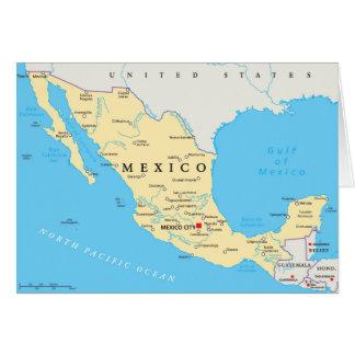 メキシコの政治地図 カード