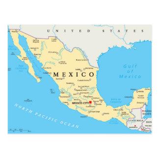 メキシコの政治地図 ポストカード