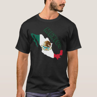 メキシコの旗の地図 Tシャツ