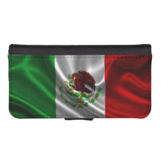 メキシコの旗の生地 iPhoneSE/5/5sウォレットケース