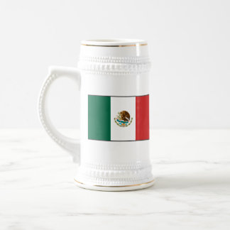 メキシコの旗の~の地図のマグ ビールジョッキ