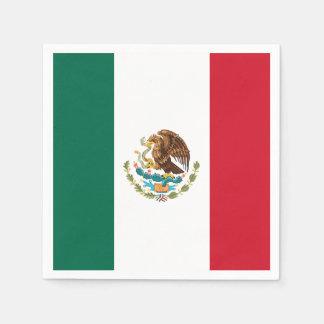 メキシコの旗 スタンダードカクテルナプキン