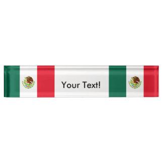 メキシコの旗 デスクネームプレート