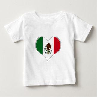 メキシコの旗 ベビーTシャツ