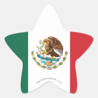 メキシコの明白な旗 星シール