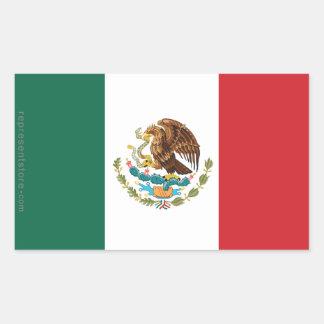 メキシコの明白な旗 長方形シール