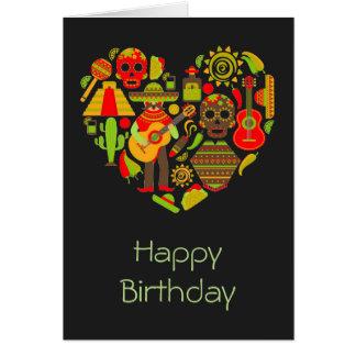 メキシコの死んだ誕生日のメキシコ日 カード