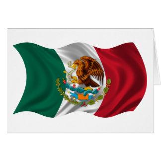 メキシコの紋章付き外衣の旗 カード