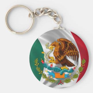 メキシコの紋章付き外衣の旗 キーホルダー