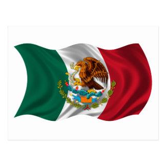 メキシコの紋章付き外衣の旗 ポストカード