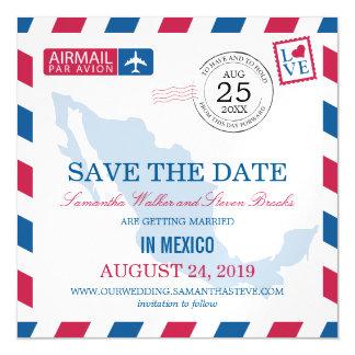 メキシコの航空郵便の保存日付 マグネットカード