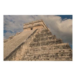 メキシコのChichen Itzaのマヤの台なし ウッドウォールアート