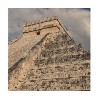 メキシコのChichen Itzaのマヤの寺院 ウッドウォールアート