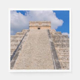 メキシコのChichen Itzaのマヤの寺院 スタンダードランチョンナプキン