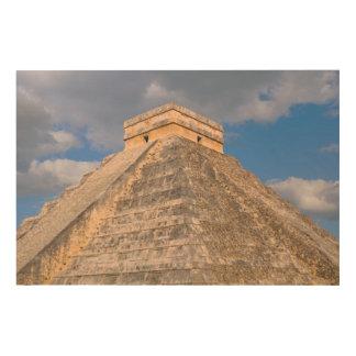 メキシコのChichen Itzaの台なし ウッドウォールアート