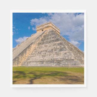 メキシコのChichen Itzaの台なし スタンダードランチョンナプキン