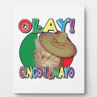 メキシコのCinco deメーヨーの旗 フォトプラーク
