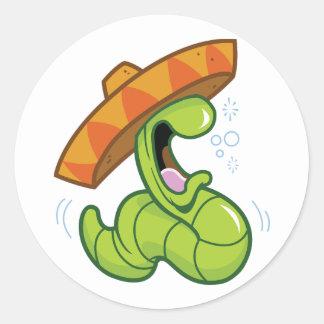 メキシコみみずのステッカー ラウンドシール