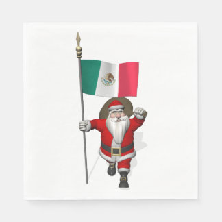 メキシコを訪問しているすてきなサンタクロース スタンダードランチョンナプキン