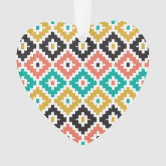 メキシコアステカな種族のプリントのイカットのダイヤモンドパターン オーナメント