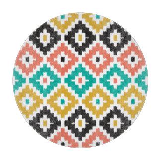 メキシコアステカな種族のプリントのイカットのダイヤモンドパターン カッティングボード