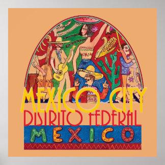 メキシコシティメキシコポスタープリント ポスター