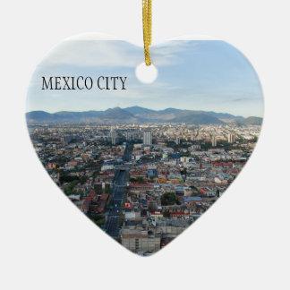 メキシコシティ、北に見る空中写真 セラミックオーナメント