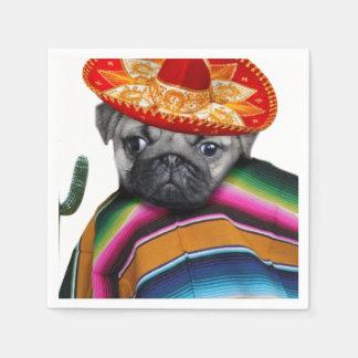 メキシコパグ犬 スタンダードカクテルナプキン