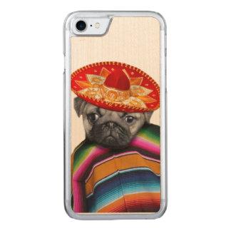 メキシコパグ犬 CARVED iPhone 8/7 ケース