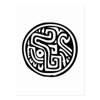 メキシコヒエログリフ(マヤ) ポストカード