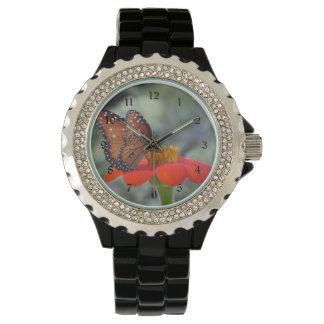 メキシコヒマワリの女王の蝶 腕時計