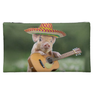 メキシコブタ-ブタのギター-おもしろいなブタ コスメティックバッグ