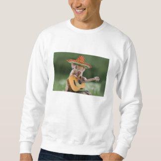 メキシコブタ-ブタのギター-おもしろいなブタ スウェットシャツ
