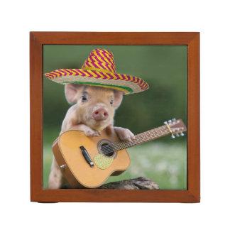 メキシコブタ-ブタのギター-おもしろいなブタ ペンスタンド