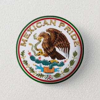 メキシコプライド(メキシコ旗からのワシ) 5.7CM 丸型バッジ