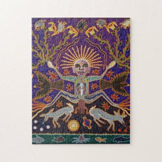 メキシコマヤのアステカな女神の民族の種族の芸術Boho ジグソーパズル