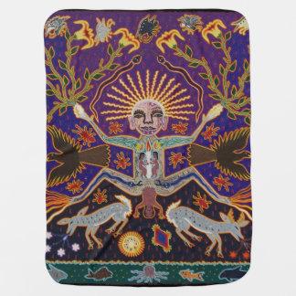 メキシコマヤのアステカな女神の民族の種族の芸術Boho ベビー ブランケット