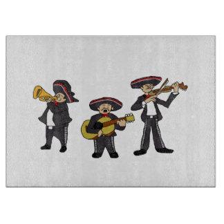 メキシコマリアッチは漫画Ilustrationにバンドを付けます カッティングボード