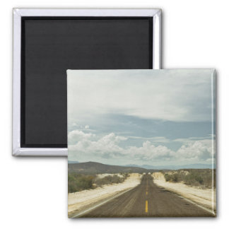 メキシコ人のBajaの景色による長い直線道路 マグネット
