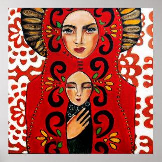 メキシコ人マドンナ- Bonorandの芸術 ポスター