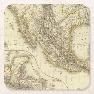メキシコ人米国、中央アメリカ スクエアペーパーコースター