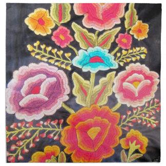 メキシコ刺繍のデザイン ナプキンクロス