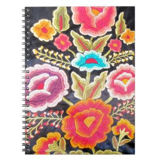 メキシコ刺繍のデザイン ノートブック